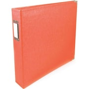 We R Memory Keepers™ Faux Leather 3-Ring Binder, 12 x 12, Coral