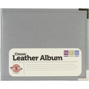 We R Memory Keepers™ Classic Faux Leather 3-Ring Binder, 6 x 6, Charcoal Gray