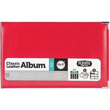 We R Memory Keepers™ Classic Leather Ring Photo Album, 12in. x 8in., Real Red