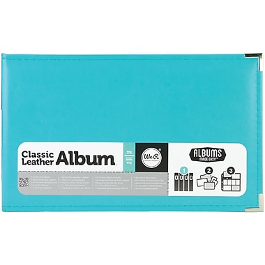 We R Memory Keepers™ Classic Leather Ring Photo Album, 12in. x 8in., Aqua