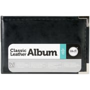We R Memory Keepers™ Classic Leather D-Ring Photo Album, 6 x 4, Black