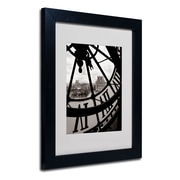 Trademark Fine Art 'Big Clock' 11 x 14 Black Frame Art