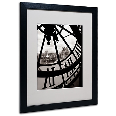 Trademark Fine Art 'Big Clock' 16in. x 20in. Black Frame Art