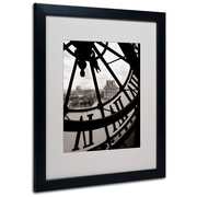 Trademark Fine Art 'Big Clock' 16 x 20 Black Frame Art