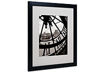 Trademark Fine Art 'Big Clock' 16' x 20' Black Frame Art
