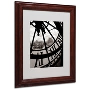 Trademark Fine Art 'Big Clock' 11 x 14 Wood Frame Art