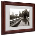 Trademark Fine Art 'Bow Bridge 2010' 11in. x 14in. Wood Frame Art