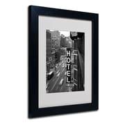 """Trademark Fine Art 'Chelsea Black and White' 11"""" x 14"""" Black Frame Art"""