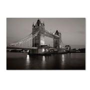 "Trademark Fine Art 'Tower Bridge I' 22"" x 32"" Canvas Art"