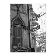 """Trademark Fine Art 'Wall Street Signs' 18"""" x 24"""" Canvas Art"""