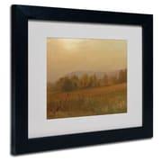 "Trademark Fine Art 'Autumn Landscape' 11"" x 14"" Black Frame Art"
