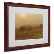 "Trademark Fine Art 'Autumn Landscape' 16"" x 20"" Wood Frame Art"