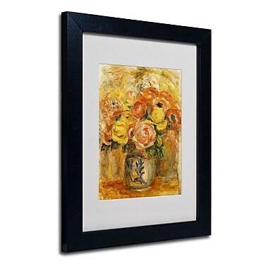 Trademark Fine Art 'Fleurs Dans Un Vase Bleu'