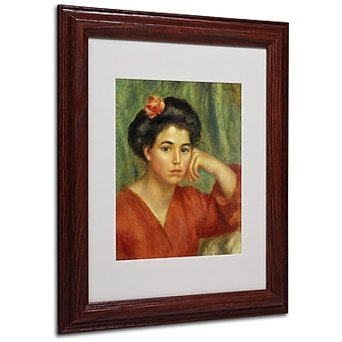 Trademark Fine Art 'Young Woman With a Rose' 11