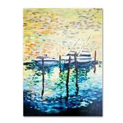 "Trademark Fine Art '3 Boats' 14"" x 19"" Canvas Art"