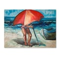 Trademark Fine Art 'Beach Umbrella' 24in. x 32in. Canvas Art