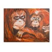 "Trademark Fine Art 'Apes' 14"" x 19"" Canvas Art"
