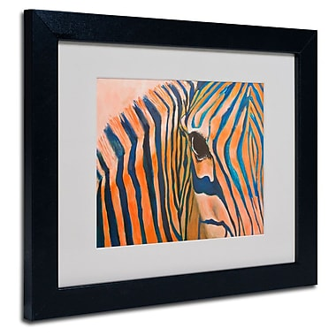 Trademark Fine Art 'Orange Zebra' 11