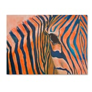 Trademark Fine Art 'Orange Zebra' 35 x 47 Canvas Art