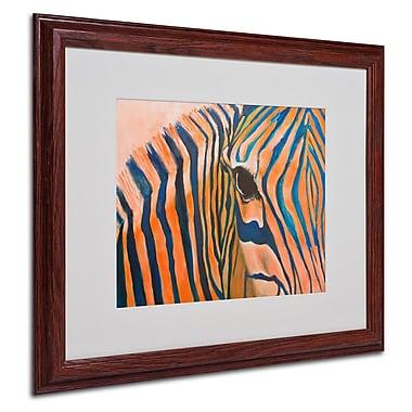 Trademark Fine Art 'Orange Zebra' 16