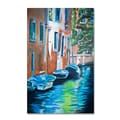 Trademark Fine Art 'Venice Boats' 16in. x 24in. Canvas Art