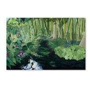 """Trademark Fine Art 12"""" x 19"""" Wooden Frame Bamboo Garden"""