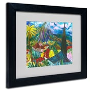 Trademark Fine Art House By the Mountain' 11 x 14 Black Frame Art