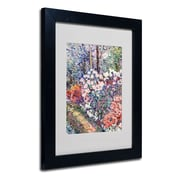 "Trademark Fine Art 'Flowers In the Forest' 11"" x 14"" Black Frame Art"