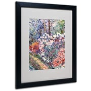 Trademark Fine Art 'Flowers In the Forest' 16 x 20 Black Frame Art