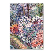 """Trademark Fine Art 'Flowers In the Forest' 14"""" x 19"""" Canvas Art"""