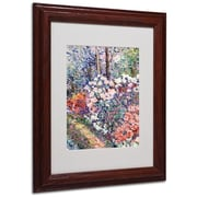 Trademark Fine Art 'Flowers In the Forest' 11 x 14 Wood Frame Art