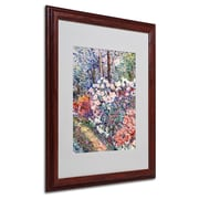 "Trademark Fine Art 'Flowers In the Forest' 16"" x 20"" Wood Frame Art"