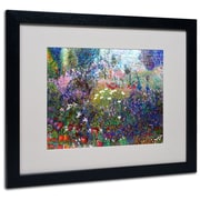 Trademark Fine Art 'Garden In Maui II' 16 x 20 Black Frame Art
