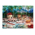 Trademark Fine Art 'Lahaina Boats' 14in. x 19in. Canvas Art
