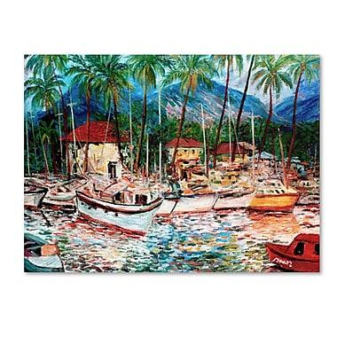 Trademark Fine Art 'Lahaina Boats' 14