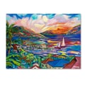 Trademark Fine Art 'Sunset' 35in. x 47in. Canvas Art
