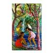 "Trademark Fine Art 'Four Girls In Maui' 30"" x 47"" Canvas Art"