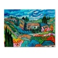 Trademark Fine Art 'Valley House' 14in. x 19in. Canvas Art