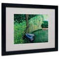 Trademark Fine Art Two Boats' 16in. x 20in. Black Frame Art