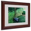 Trademark Fine Art Two Boats' 11in. x 14in. Wood Frame Art