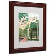"Trademark Fine Art Valley Homes' 11"" x 14"" Wood Frame Art"