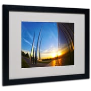 "Trademark Fine Art 'Air Force Memorial 15' 16"" x 20"" Black Frame Art"