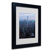 "Trademark Fine Art 'City Lights' 11"" x 14"" Black Frame Art"