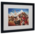 Trademark Fine Art 'Circus Hit Parade'  16in. x 20in. Black Frame Art