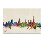 "Trademark Fine Art 'Melbourne, Canada'  22"" x 32"" Canvas Art"