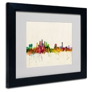 Trademark Fine Art 'Tampa, Florida'  11 x 14 Black Frame Art