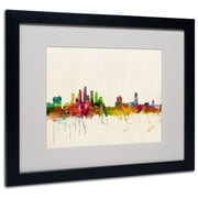 Trademark Fine Art 'Tampa, Florida'  16 x 20 Black Frame Art