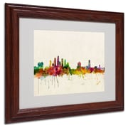 Trademark Fine Art 'Tampa, Florida'  11 x 14 Wood Frame Art