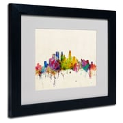 Trademark Fine Art 'Minneapolis, Minnesota'  11 x 14 Black Frame Art