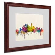 "Trademark Fine Art 'Minneapolis, Minnesota'  16"" x 20"" Wood Frame Art"